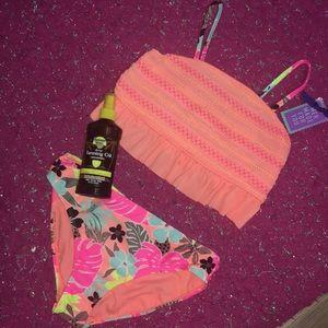 Wonder nation 2pc Bikini bright TROPICAL NWT